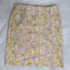 CATO NWT Sportswear Skirt Pink Yellow Floral New